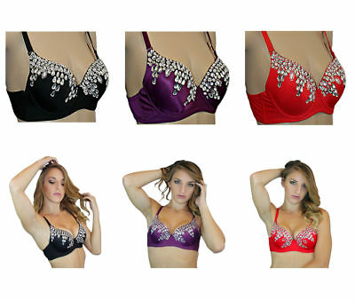 Exotic Burlesque Halloween Costume Sequin Belly Dance Bra Top Clearance Sale!