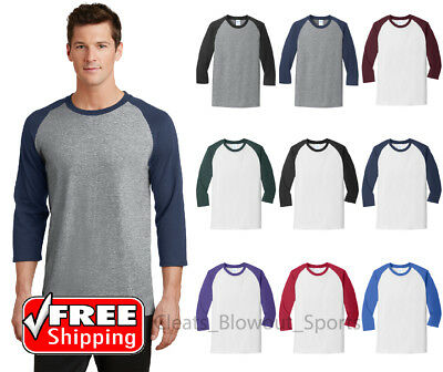 Mens Colorblock Raglan 3/4 Sleeve T-Shirt Workout Baseball Sport Jersey T PC55RS (Colorblock Raglan Jersey Shirt)