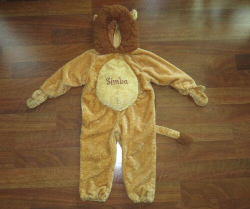 Disney Size XS (4T-5T) Disneyland RESORT Simba Lion King Warm Hood Unisex Costum