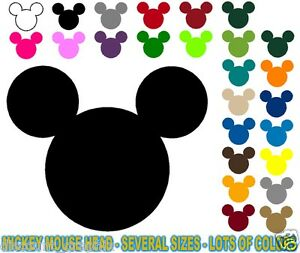 Mickey Mouse Ears Head Logo World Vinyl Decal Disney Florida USA Kids ...