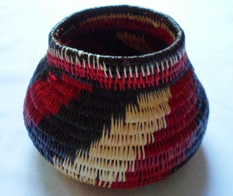 Wounaan Embera Woven Classic Design Basket-Panama 20063006 mm
