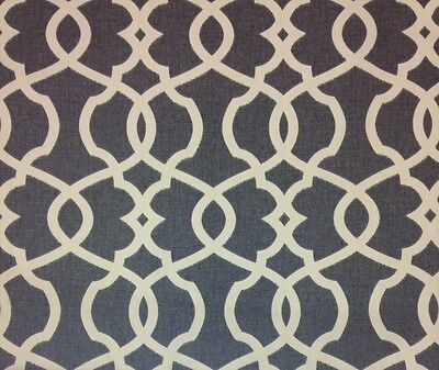 MAGNOLIA HOME EMORY PEWTER GRAY TRELLIS FURNITURE FABRIC BY