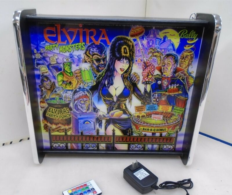 Bally Elvira And the Party Monsters Pinball Head LED Display light box