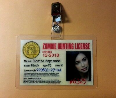 The Walking Dead Id Abzeichen - Rosita Espinosa Cosplay Kostüm Requisite