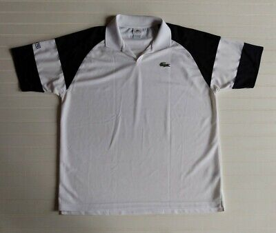 Lacoste Sport Men's Size 7 Black White Short Sleeve Alligator Polo Golf Shirt