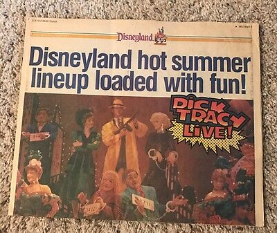 Vintage 1990 La Times Newspaper Insert Disneyland 35 Years Of Magic