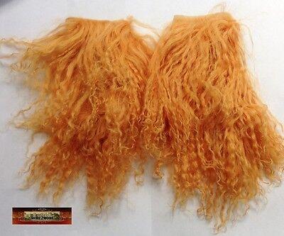 M00319 MOREZMORE Hair Tibetan Lamb Remnants BUCKSKIN GINGER Doll Baby Wig T20