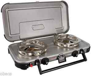 COLEMAN HYPERFLAME FYREKNIGHT 2 BURNER GAS STOVE CAMP COOKING