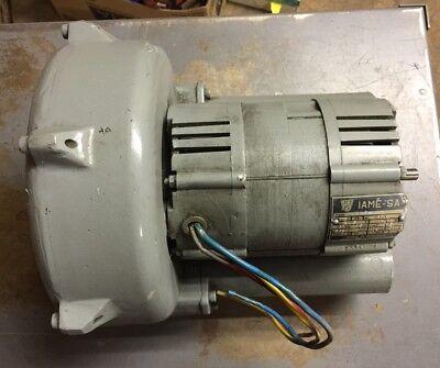Iame-sa Regenerative Blower Motor Type Mmac .5 Hp 3380 Rpm