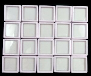 20 Pcs 3x3 Cm Wholesale Gem Display plastic box Storage for Gemstones/Diamond