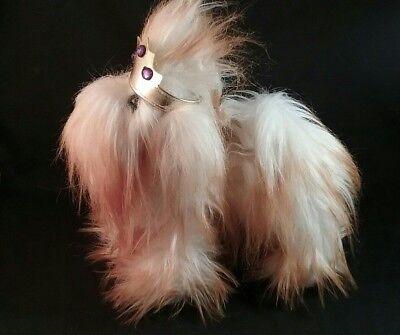 Battat  Shih Tzu /Maltese Dog Plush Stuffed Animal wearing   Gold Crown 9