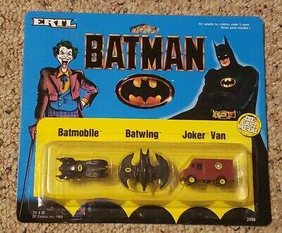 Micro Machines Batman Batmobile Batwing Joker Van 1989 Vintage ERTL Never Opened