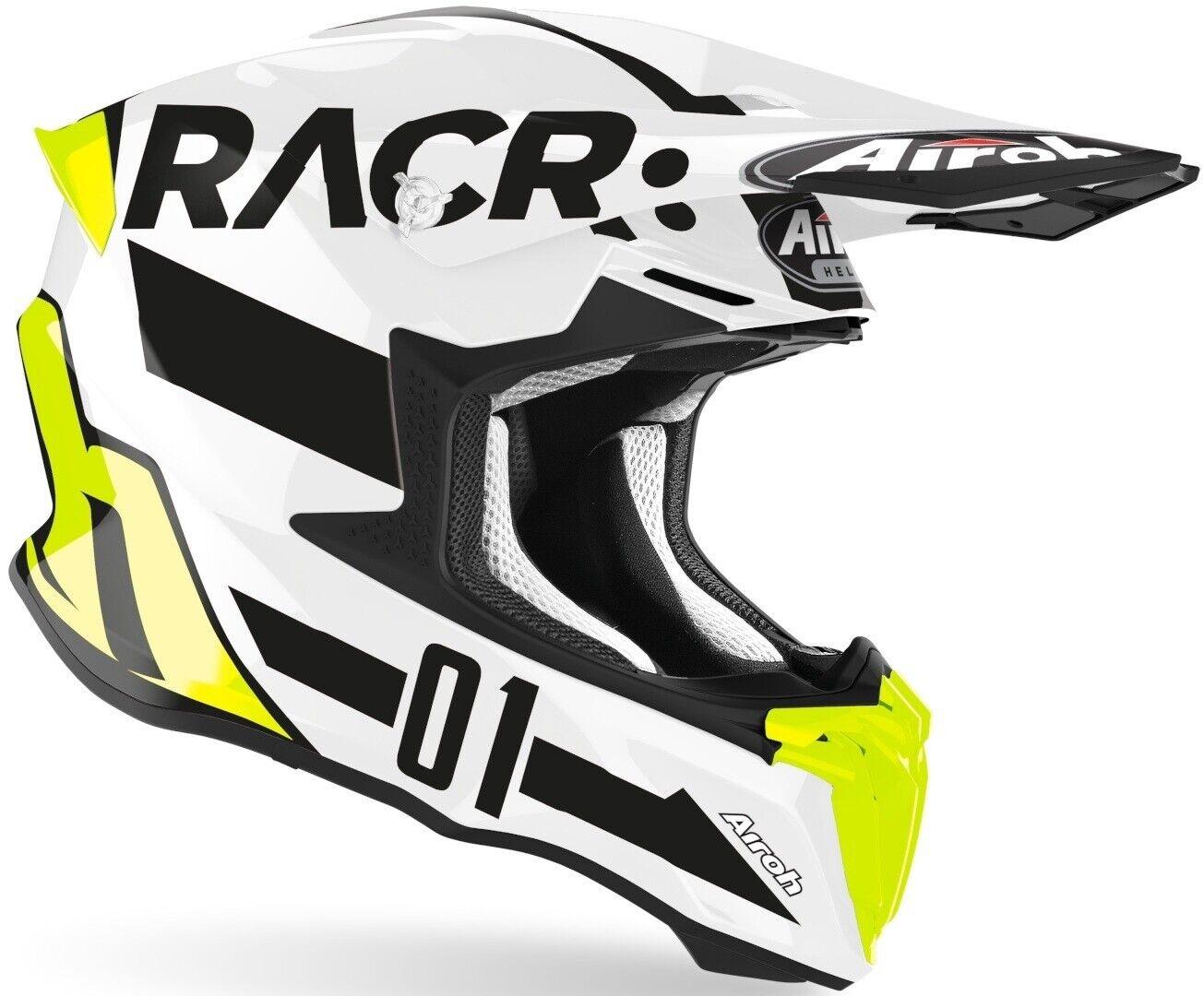 CASCO MOTO CROSS ENDURO QUAD AIROH TWIST RACR CAIROLI 2020 GIALLO FLUO TW2RA17