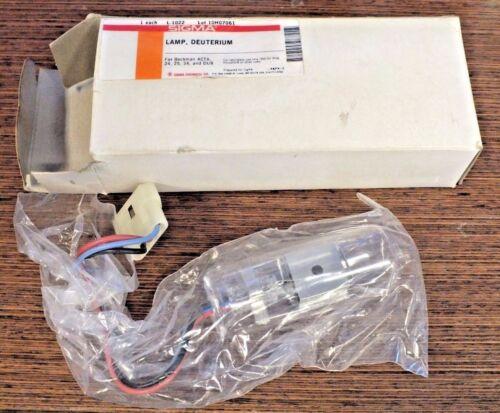 SIGMA L-1022 DEUTERIUM LAMP BECKMAN ACTA 24 25 34 DU8 597140 NEW