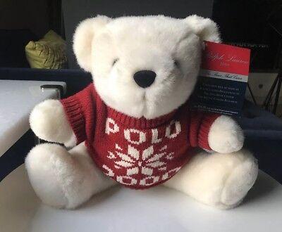 "NWT Polo RALPH LAUREN ""Polo Teddy Bear in American Flag Sweater"" Keyring"