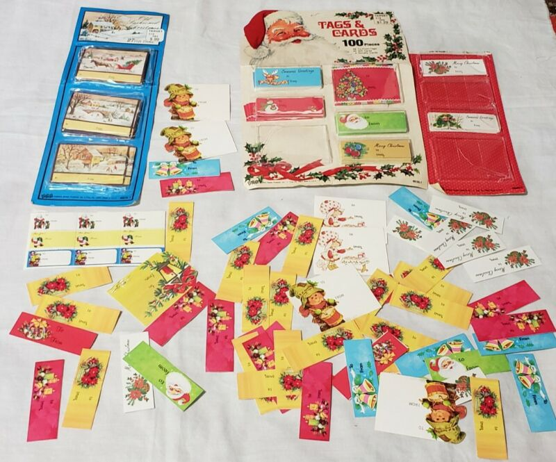 Lot #2 Vintage Christmas Gift Tags Cards some in packaging epherma