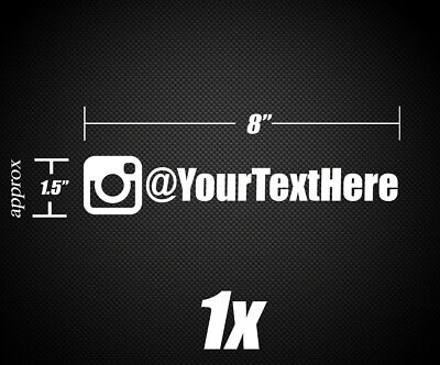 1X Instagram Name   Username Vinyl Decal Sticker 8  X 1 5  Multiple Fonts Avail