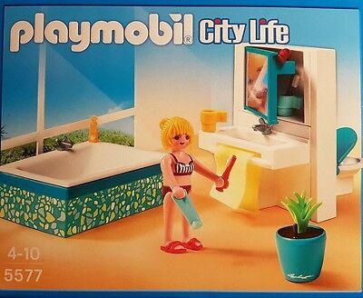 Playmobil 5577 Modernes Badezimmer City Life 38-teilig Neu/Ovp