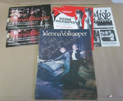 VIENNA VOLKSOPER / Program, '84 US Tour / Signed by THE COMPANY!