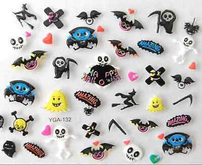 Nail art autocollants stickers ongles:Décorations Happy Halloween fantômes - Decoration Ongle Halloween