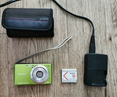 Sony Cybershot Dsc-w530 14.1 Megapixels Digital Camera Green + Covert