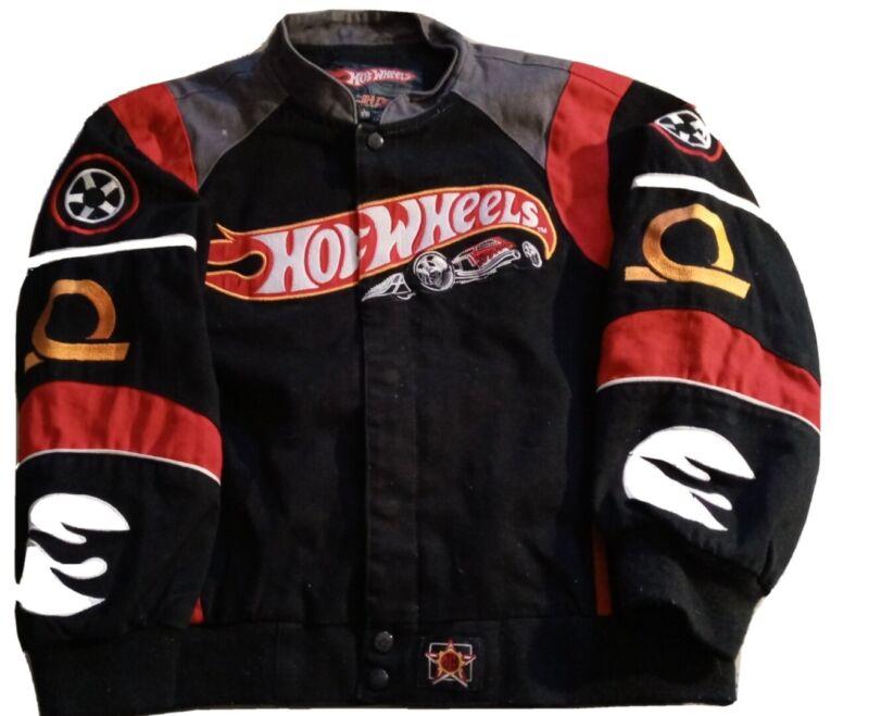 VTG HOT WHEELS JH Design NASCAR Button Jacket Size 9-10 KIDS Large