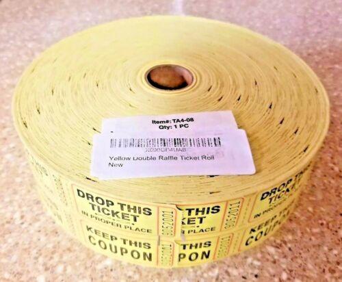2000 50/50 Double Stub Raffle Tickets Split the Pot Roll Fund Raiser Festival