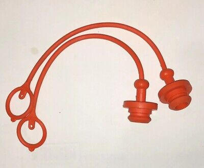 Tractor Remote Coupler Dust Covers.  4 In Orange.