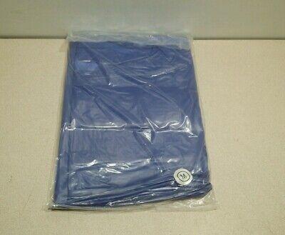 One New Ansell Vinyl Coat Apron 56-910 Blue Size Medium