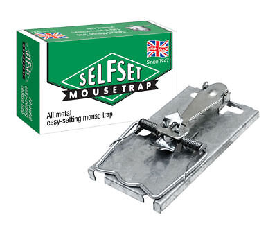 Self Set Metal Mouse Trap (Pack of 10)
