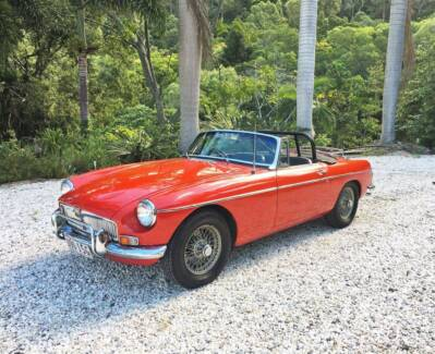 Classic Car Hire MGB Convertible Self-Driv Event Formal Weddings