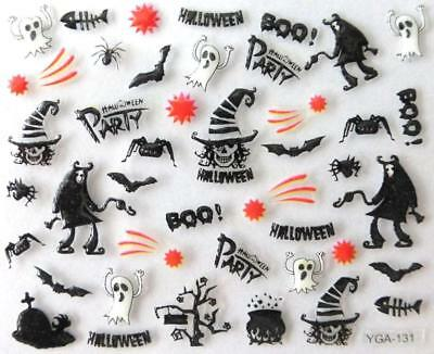 Nail art autocollants stickers ongles:Décorations Halloween fantômes araignées - Decoration Ongle Halloween