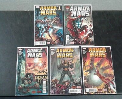 Armor Wars (Marvel 2015) COMPLETE SET 1-5! (Ironman - Secret Wars)! Robinson!