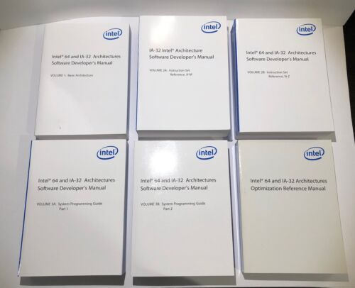 *Last Edition* Intel 64 and IA 32 Architectures Software Developer