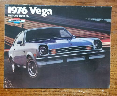 Vtg 1976 Chevrolet VEGA Brochure Showroom Salesman Dealership Old Original Chevy