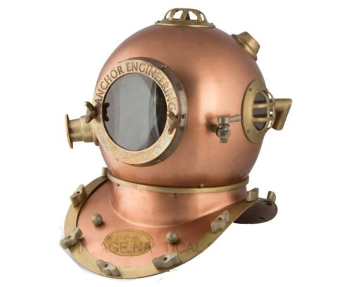 Helmet 18 Inch US Navy Diving Helmet Mark V Deep Sea Divers Helmet Handmade Gift