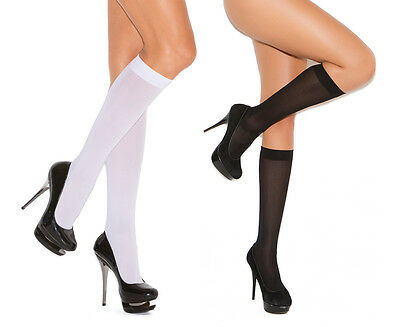 Opaque Knee Highs Stockings Hosiery Nylons School Girl Costume - Costume Stockings