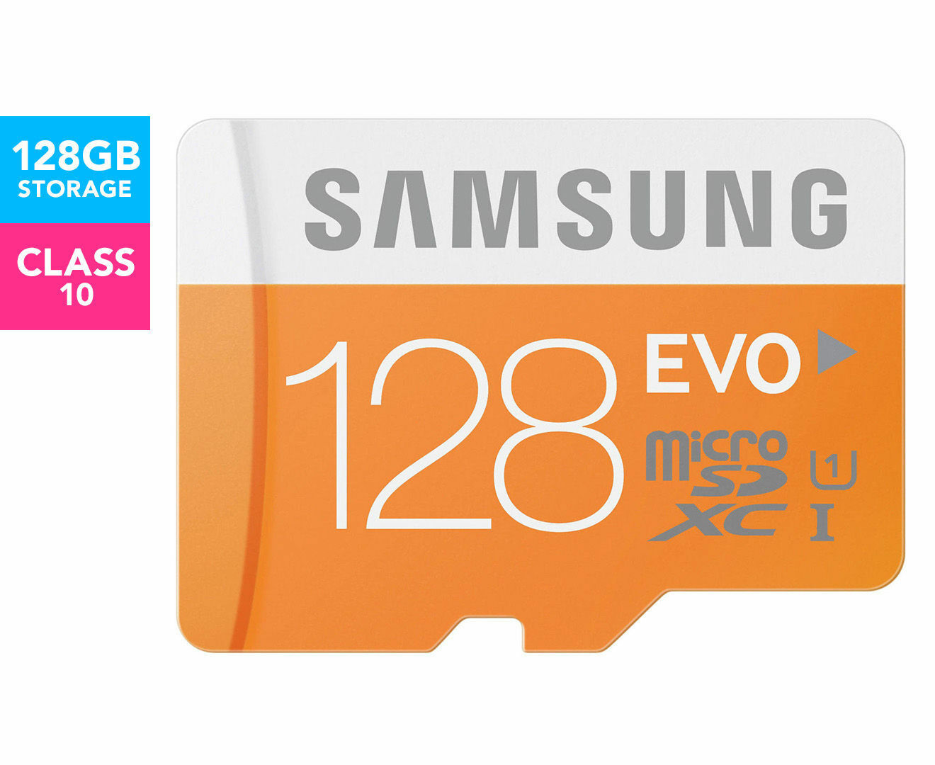 SAMSUNG 128GB EVO Micro SD Memory Card Class 10 48 MB/S Galaxy