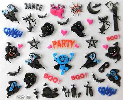 Nail art autocollants stickers ongles:Décorations Halloween fantômes - Decoration Ongle Halloween