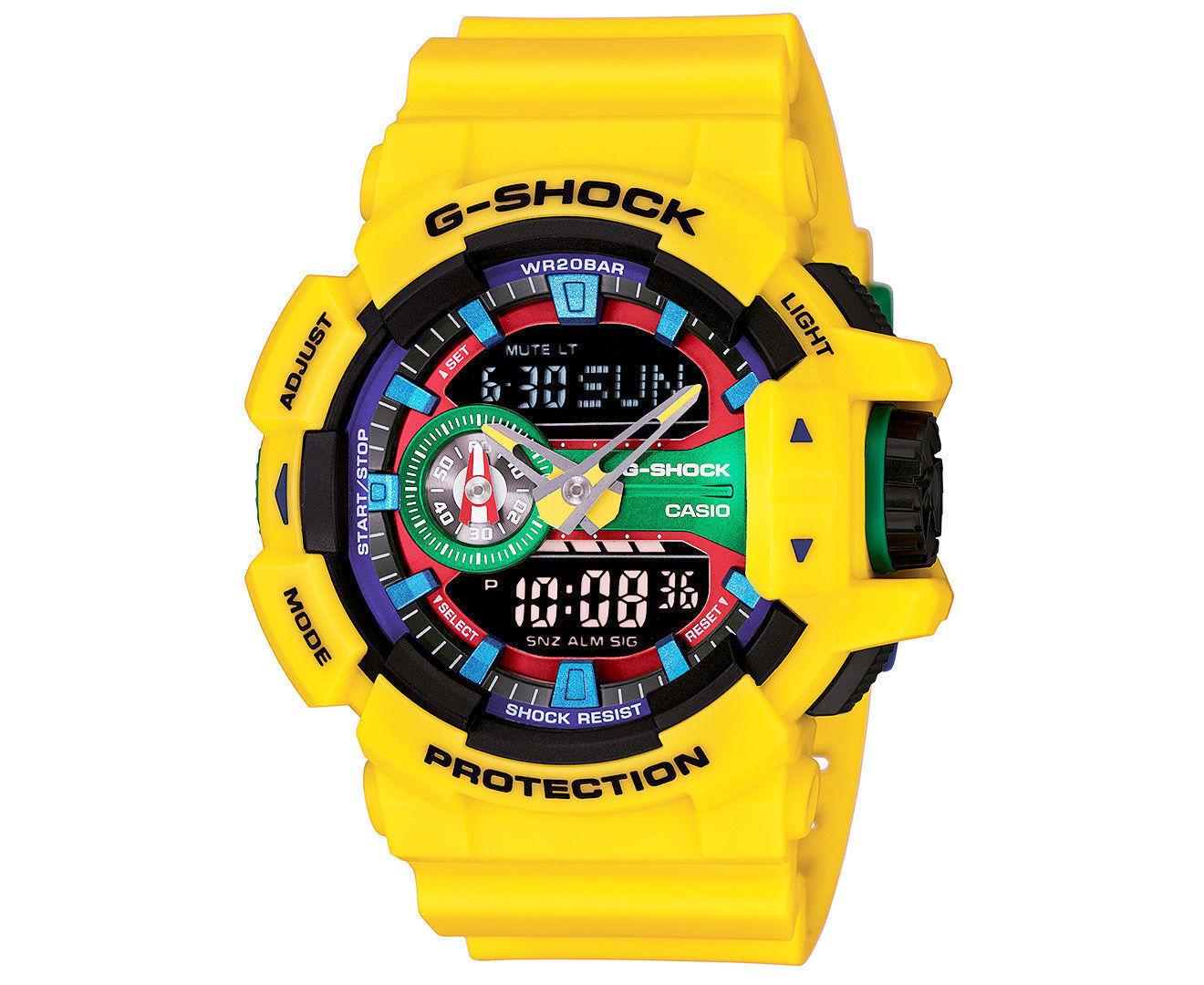 Casio Analog Digital Sport Mens G Shock Yellow Watch Ga 400 9a Ebay Gac 110 1adr Stock Photo