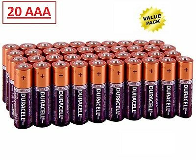 (20 Pack) Duracell AAA 1.5v Alkaline Batteries (Exp 2027)