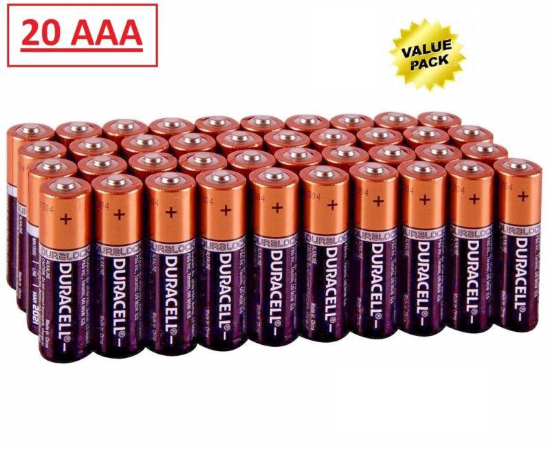 (20 Pack) Duracell AAA 1.5v Alkaline Batteries (Exp 2027)