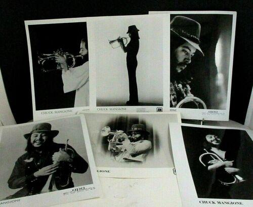 Chuck Mangione, Six 8x10 Glossy PR Photos, A&M Records & APA (1975-1982)