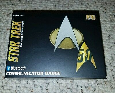 Star Trek TNG Bluetooth Communicator Badge Prop Replica Combadge Next Generation