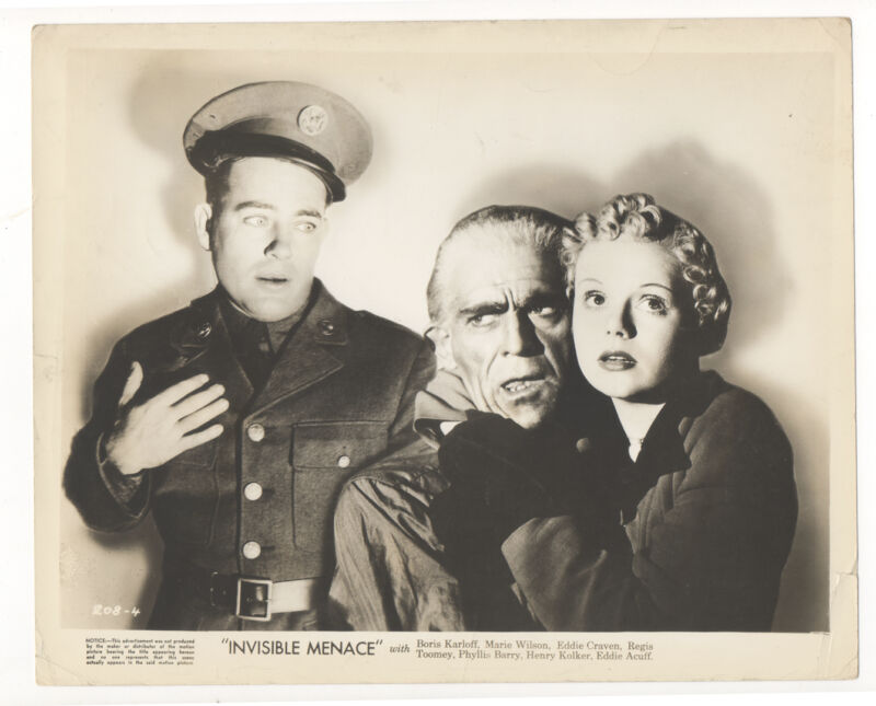 Boris Karloff 1938 The Invisible Menace Original 8x10