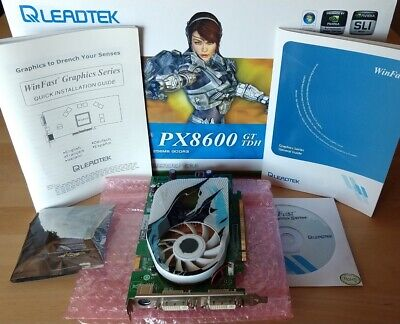 Leadtek Winfast PX8600 GT TDH Geforce 256Mb GDDR3 PCI-e 16x Grafikkarte DVI