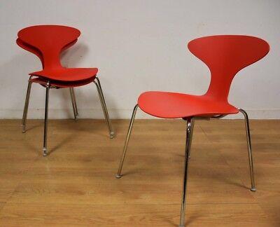 Red Bernhardt Chrome Task Desk Chair
