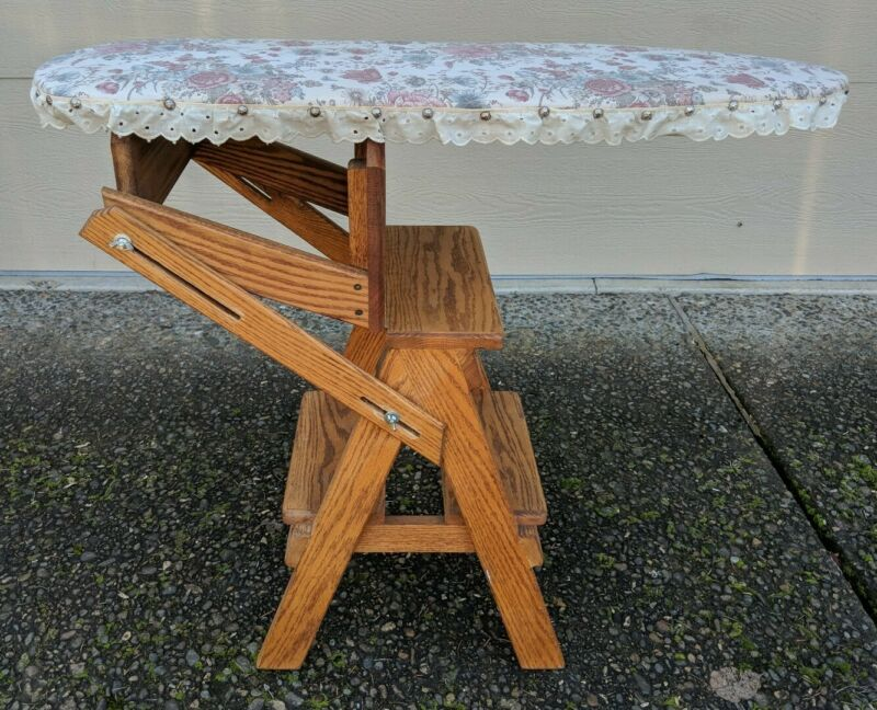 """Jefferson Bachelor """"3 in 1"""" Convertible Chair Step Stool Ladder & Ironing Board"""