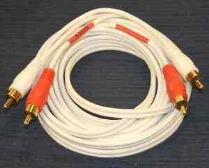 12ft Premium Rca Red White Surround Sound Audio Cable Wire