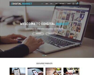 Established Wordpress Premium E-commerce Digital Download Store Autopilot Income